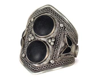 Onyx Tribal Kuchi Cuff Bracelet