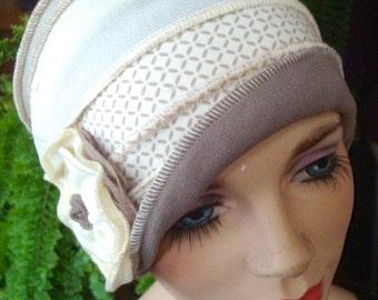 womens hat Chemo Hat womens chemo hat chemo soft hat chemo cloche cancer soft hat cream