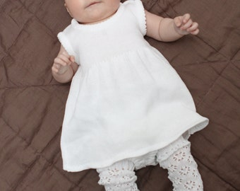 BABY GIRL CLOTHES Baby girl dress Comming home outfit Flower girl dress Wedding party dress Simple Baptism dress White dress