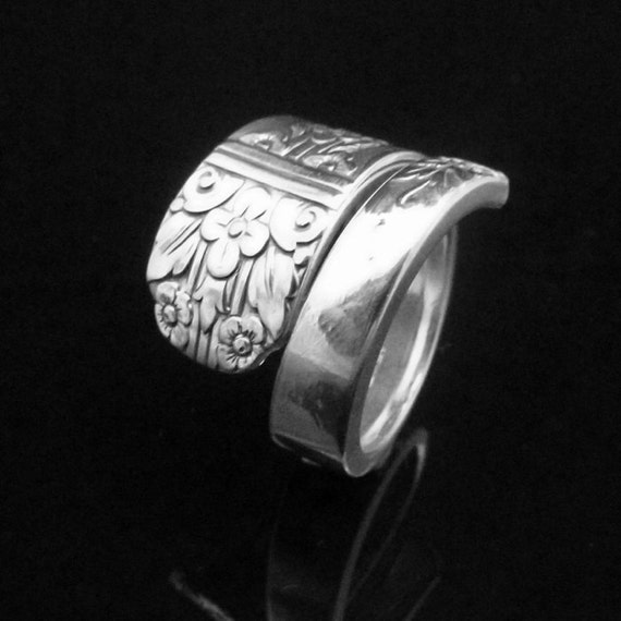 Floral Spoon Ring Margate Aka Arcadia 1938
