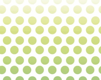 1 Yard Riley Blake Ombre Dots in Green