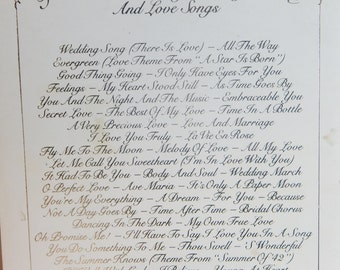 Vintage Sheet Music Book Wedding & Love Songs There Is Love 70's Collection of Love Songs Paper Ephemera 1971