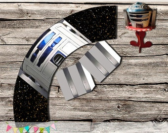 Star Wars - R2D2 Cupcake Wrapper - Easy for Parties  - INSTANT DOWNLOAD - Printable - Digital File