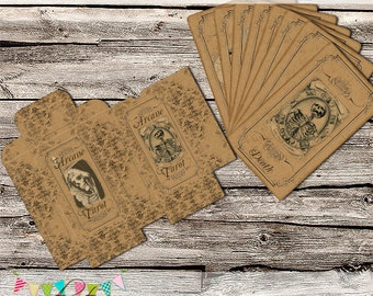Full Gothic Tarot Card Set - 78 cards - Printable - Instant Download