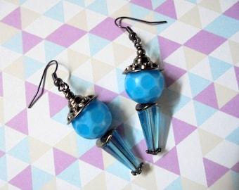 Aqua Blue Earrings (2362)