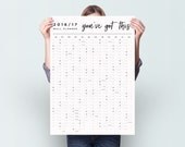 You've Got This 2016 2017 Academic Wall Planner