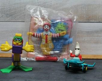 Vintage McDonald's Happy Meal Toys, Fry Guy, Mac Tonight, Ronald McDonald
