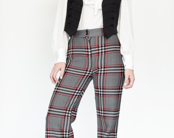 70s plaid bell bottoms