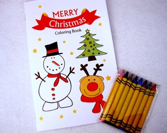 Christmas Coloring books, 6 Merry Christmas Coloring Books READY TO SHIP A1248