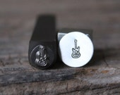 Guitar Metal Stamp-7mm Size-Steel Stamp-New Metal Design Stamps-by Metal Supply Chick-DCH72