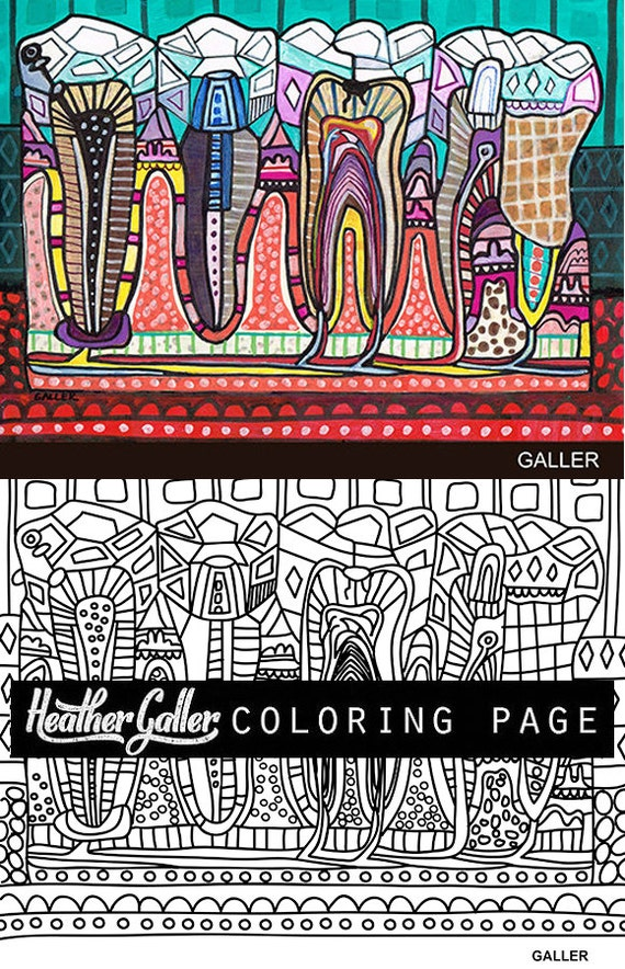 Dental Anatomy Coloring Book Coloring Pages