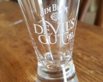 jim beam devil's cut shot glass