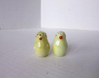 Vintage Lustreware Ceramic Baby Chicks Salt and Pepper Shakers