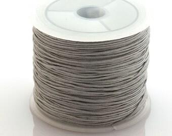 Grey nylon cord - 1mm nylon cord - 1 roll (35meters)