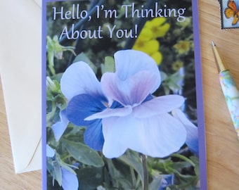 Pansy Note Card Thinking About You
