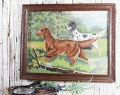 Paint By Number Hunting Dogs, Vintage Dog Painting, Hunting Painting