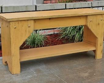 Rustic Bench, Entry Seat, Farmhouse Furniture, Beach House Decor