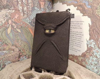 Mythical Beast Book (Dark Brown leather with Yellow eye)