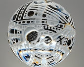 Art Glass Orb with Carving by Tim Keyzers