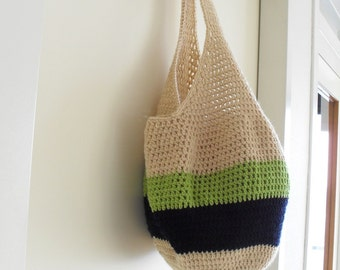 Colorful Crochet Bag, Market Bag, Beach Bag, Tote Bag