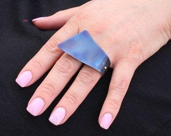 Large silver ring Black titanium ring big rings chunky ring adjustable modern ring contemporary ring statement ring large minimalist ring