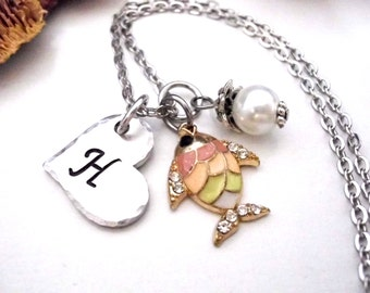 Super Sale Now Fish Jewelry, Fish Necklace, Personalized Necklace, Hand Stamped Jewelry, Tropical Fish Jewelry