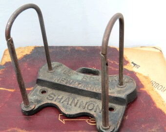 Shannon Arch Lever File Holder for Vintage Clipboards, Receipts, Tickets, Notes, Industrial Decor
