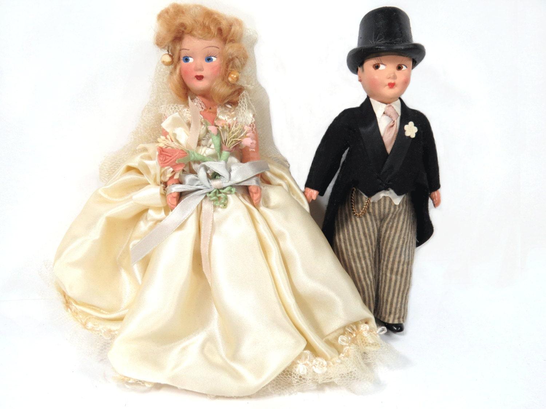 Vintage Bride Amp Groom Dolls Original Box Wedding Cake