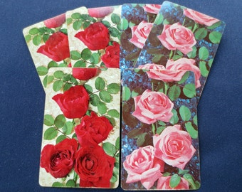 6 Roses Vintage Playing Cards, 3 Red, 3 Pink, Congress