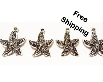 Set of 20 - Starfish Charms