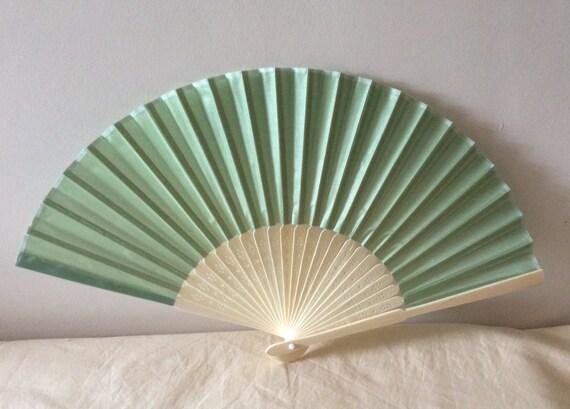 Regency/Victorian Style Fan. Sage Green/Seafoam. Bridal Favour.
