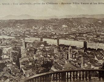 Unused Vintage French Postcard - Nice, Côte d'Azur, France