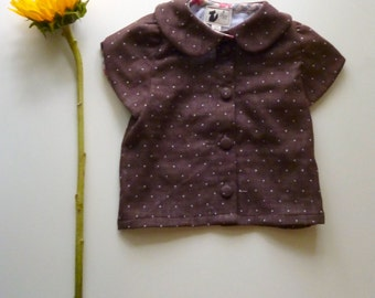 Little Girl's Polka-Dot Organic Cotton Blouse