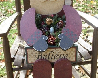 "DEBI'S DOINGS -  Christmas Wood Craft PATTERN""Mr. Kringle-Bench Sitter-36"" High"