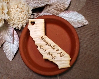 100 California Wedding Favors Custom Engraved