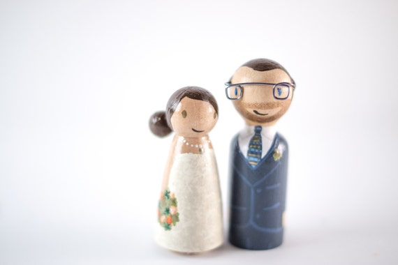 Nerdy Cake Topper Geeky Cake Toppers Wedding Cake Topper