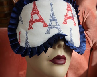 Cotton Sleepmask Paris Eiffel Tower Pinup Burlesque by Love Me Sugar