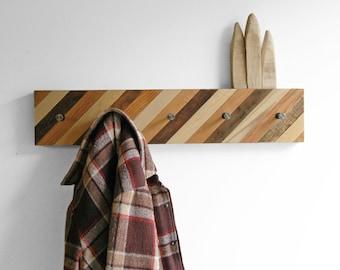 Diagonal Pattern Coat Rack