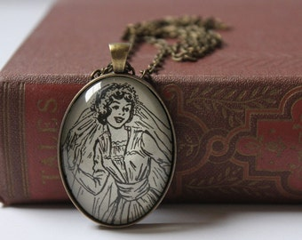 Betsy Tacy book necklace - literary jewelry for bride to be - wedding pendant necklace - Maud Hart Lovelace
