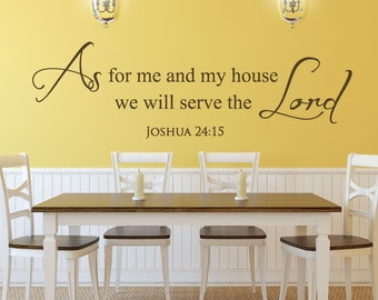 Scripture Wall Decals   Christian Stickers   Bible Quotes   Joshua 24:15    As Part 33