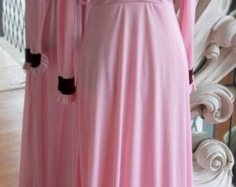 Vintage 1970s Pink Maxi Dress