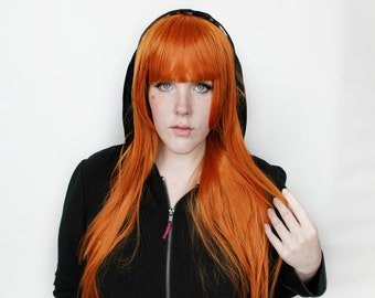 SALE Long Ginger wig | Straight Ginger Red Orange wig | Cosplay wig, Scene wig | Heat styleable / Heat resistant wig | Hazel Fox
