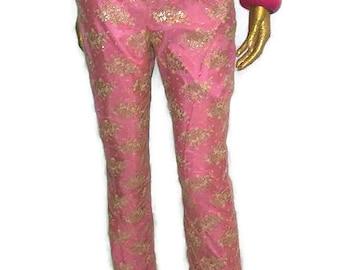 Vintage Moda International pink and lace pants
