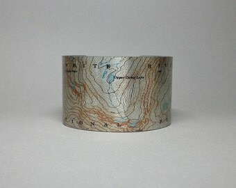 Cuff Bracelet White River National Forest  Colorado Unique Hiking Camping Backpacking Gift for Men or Women