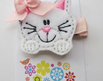 Here Kitty Kitty Clippie- Kitty Paws - Party Favor - Hair Clip