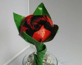 Store Closing- everything half off- Large Twisted Inverse Duct Tape Rose