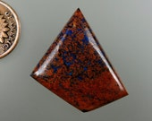 Shattuckite with Chalcotrichite 100% Natural Hand Cut Cabochon from 49erMinerals Stock C1509, free U.S. shipping