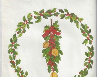 Design Craft Inc. Christmas Wreath Vintage Decal, 1973