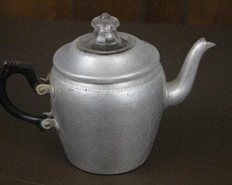 Vintage Teapot Aluminum English Sona Ware Teapot