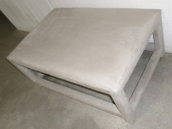 Large Coffee Table/Ottoman -  Fully Upholstered - Design Your Own